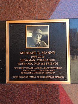 Michael Manny plaque
